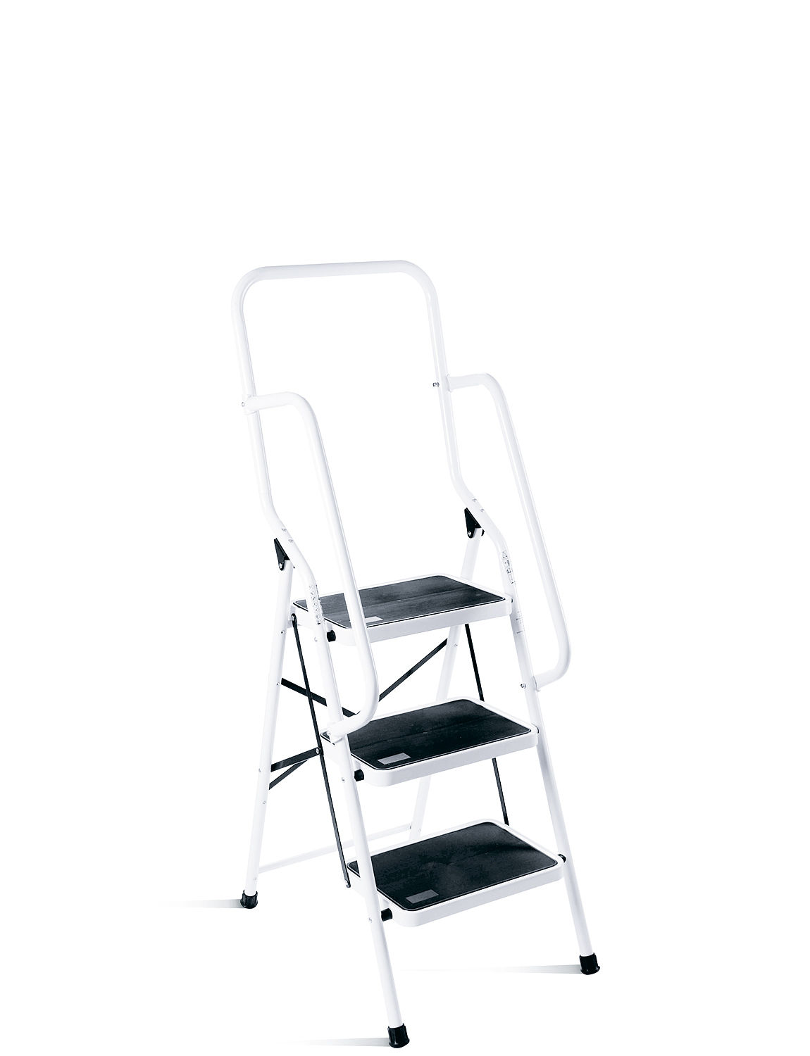Three Step Ladder With Safety Rail Chums