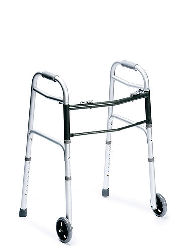 Wheeled Folding Walking Frame