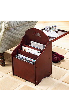 Telford 2 in 1 Magazine Rack and Table
