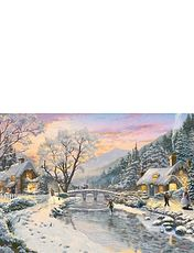 Thomas Kinkade Winter Evening Dusk 1000pc Puzzle