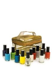 12 Piece Nail Varnish Set With Cosmetic Bag