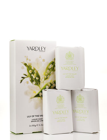 Yardley Soap Gift Set- Lilly of the Valley