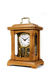 Real Wooden Lantern Mantle Clock