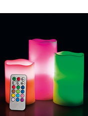 LED Mood Candles-Set of 3