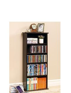 2-In-1 Bookcase & Multi-Media Store