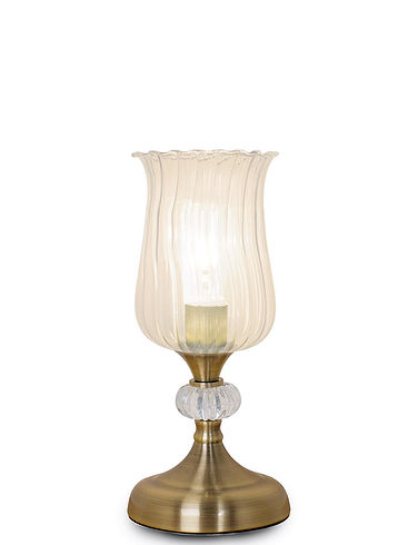 Fluted Glass Touch Lamp