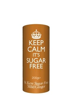 200g Keep Calm SUGAR FREE Ginger Biscuits
