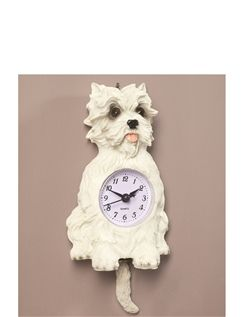 Scotty Dog Pendulum Wall Clock