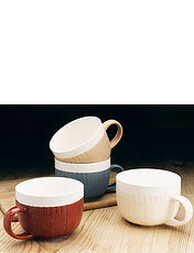 Set Of 4 Woolly Jumper Bowls/Mugs