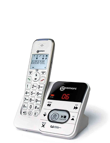 Geemarc Single Amplified Cordless Telephone And Answer Machine