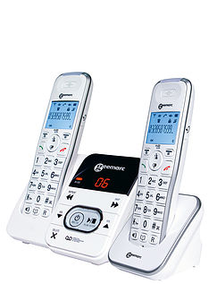 Geemarc Twin Amplified Cordless Telephones and Answer Machine