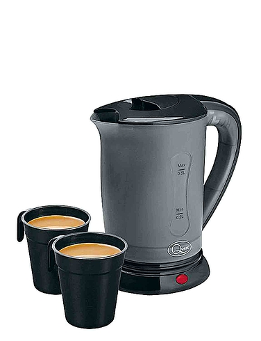 Quest Super Lite Kettle with 2 FREE cups - Black