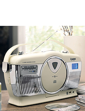 Steepletone Portable Radio / CD Player With Bluetooth