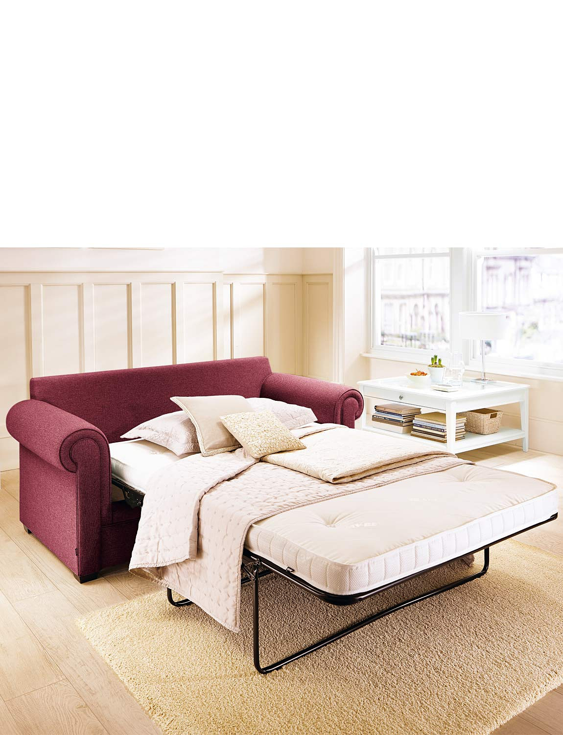 2 seater sofa bed with pocket sprung mattress A0TO9XFR