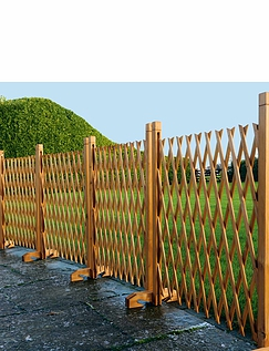 Expanding Wooden Fence
