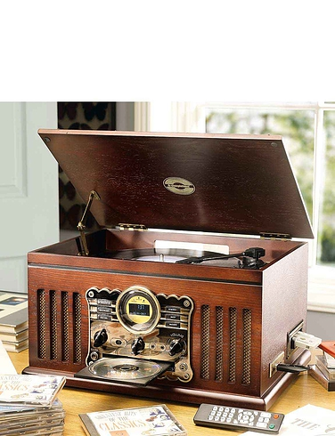 Steepletone Nostalgic Music Centre With DAB Radio
