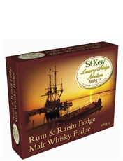 400g Rum and Raisin Fudge