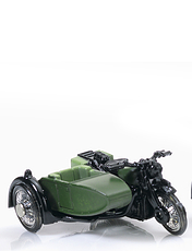 Army Armed Forces Motorcycle and Side Car