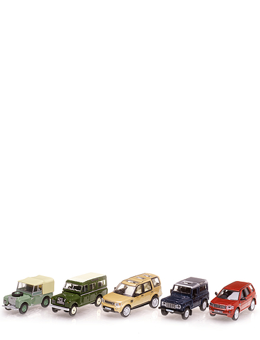 Heritage Land Rovers - Set of 5