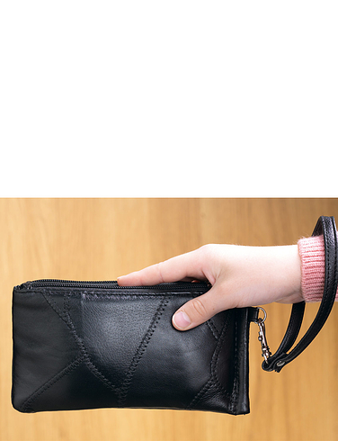 Multi Pocket Organiser Leather  Bag/Purse