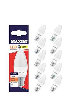 3w (25w) Candle Baynoet - Lifetime Bulbs - Set of 5