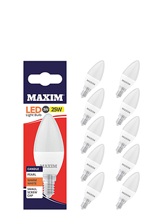 3w (25w) Candle Small Screw - Lifetime Bulbs - Set of 5