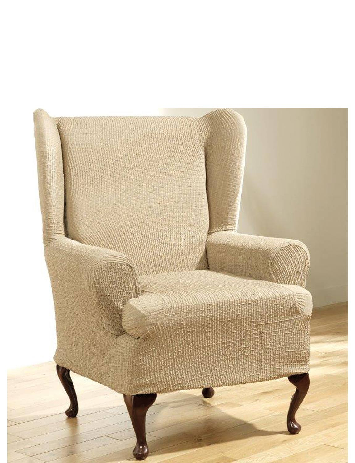 Admirable 2 Way Easy Fit Furniture Covers Wing Chair Lamtechconsult Wood Chair Design Ideas Lamtechconsultcom