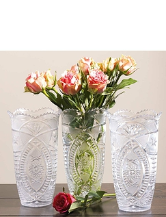 Set Of 3 Plastic Vases