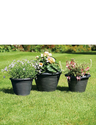 Set Of 3 Patio Planters