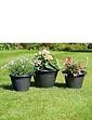 Set Of 3 Patio Planters