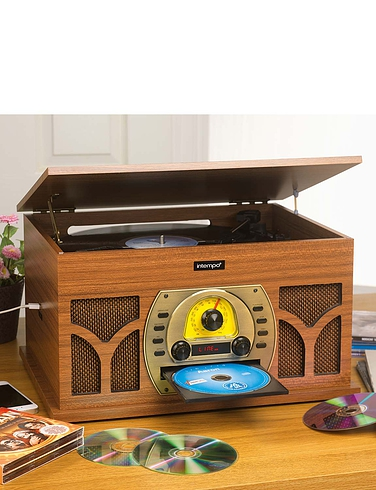 3-in-1 Gramophone Style Music Centre