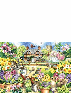 Gardens Of All Seasons - 4 x 1000 Jigsaw Puzzles