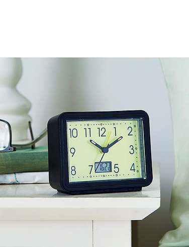 Glow In The Dark Alarm Clock With Temperature Gauge