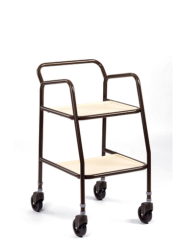 Deluxe Height Adjustable Trolley With Push Bar