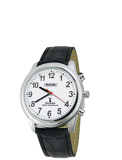 Pelham Radio Controlled Talking Leather Strap Watch