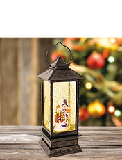 LED Water and Glitter Antique Lantern
