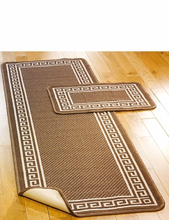 Greek Key Slip Resist Utility Mat