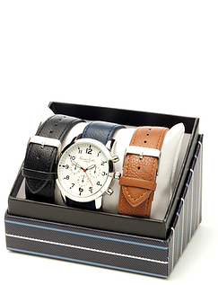 Mens Chronograph Style Watch With Interchangeable Strap