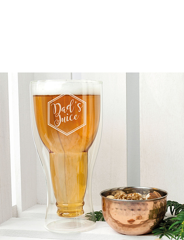 BOTTOM'S UP BEER GLASS