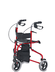 Steel Tri Wheel Walker with Seat