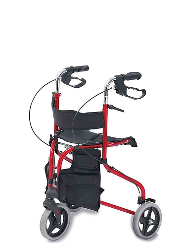 Seated Steel Tri Wheel Walker