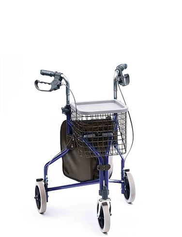 Deluxe Aluminium Tri Wheel Walker