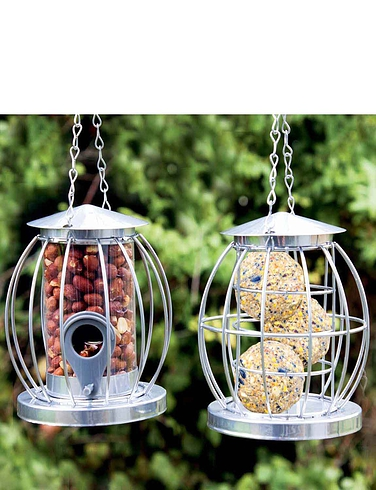 Mini Caged Bird Feeders - Anti-Squirrel