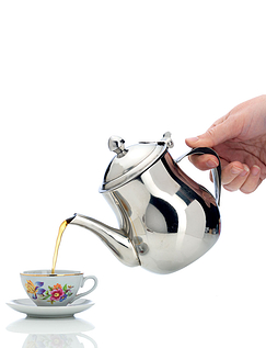 No Drip Stainless Steel Teapot With 2 Cups