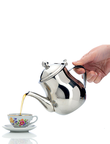 No Drip Stainless Steel Teapot With 4 Cups