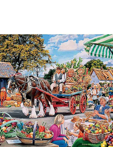 Gibsons Village Celebrations 4 x 500 Piece Jigsaw Set