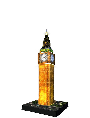 Big Ben At Night Snap-Fit 3D Puzzle