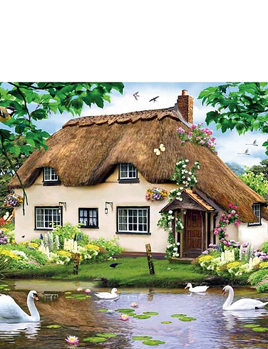 Swan Cottage 1000pc Jigsaw