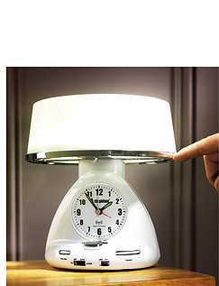 Radio Controlled Touch Light Clock Radio