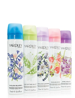 Yardley Set of 5 Body Sprays